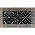 """Decorative Grille Vent Cover in Arts and Crafts Style 6"""" x 12"""" in Rubbed Bronze Finish"""