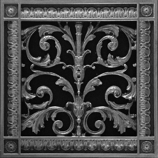 Louis XIV decorative grille in Pewter