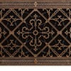 Arts and Crafts decorative vent cover 8x24 in Rubbed Bronze finish