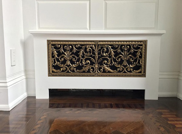 radiator cover with Louis XIV decorative grille