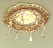 3-3/4″ Victorian Recessed Light Chandelier #RC-301-1.5ClearU