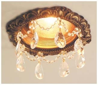 5″ Victorian Recessed Light Chandelier #RC-151-2ClearTear