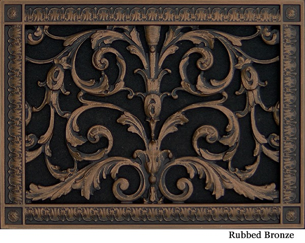 """Decorative Vent Cover French Style Louis XIV Grille Covers Duct 10""""×14"""""""
