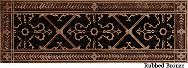 """Decorative Vent Cover Craftsman Style Arts and Crafts Grille Covers A Duct Size 4"""" ×16"""""""