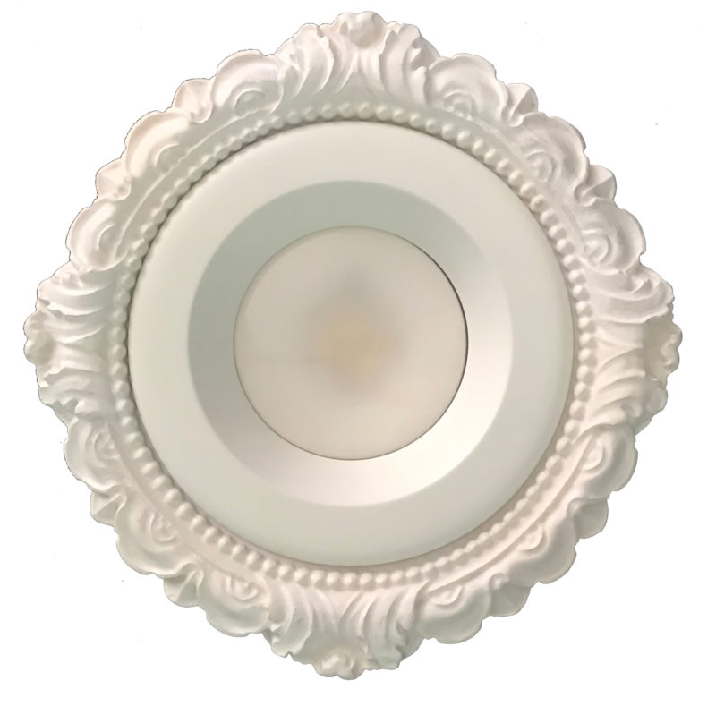 Recessed Light Trim in Victorian Style LR-161 shown with LED