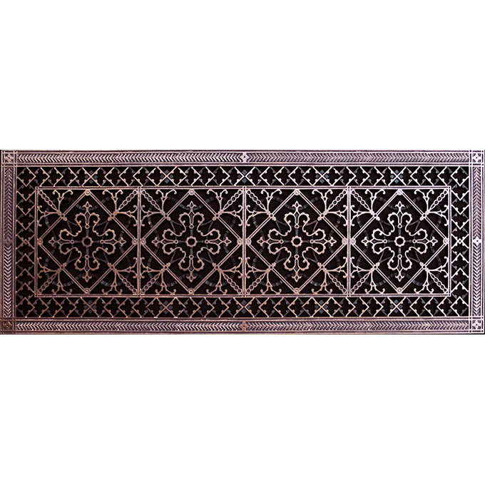 """Arts and Crafts 12"""" x 36"""" grille in Rubbed Bronze Finish."""