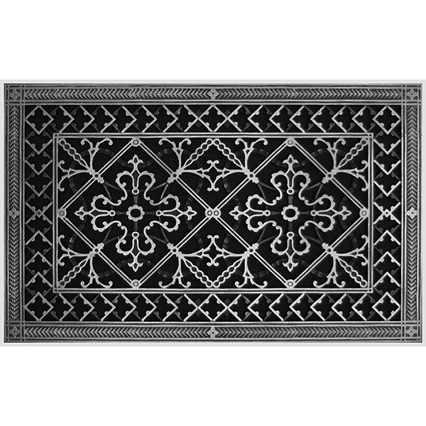 """Magnetic Filter Grille in Craftsman Style Arts and Crafts 14"""" x 24"""" in Pewter Finish"""