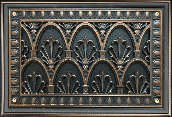 Foundation Vent Cover in Empire Style in our Rubbed Bronze Finish