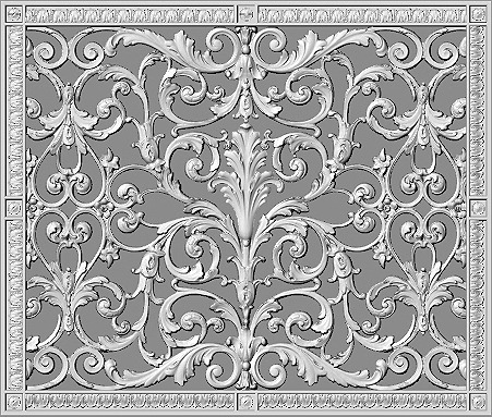 Decorative Grille cent cover in Louis XIV Style 20x24
