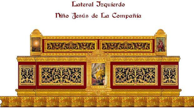 eclesiastical art workpiece with Beaux-Arts Louis XIV decorative grilles