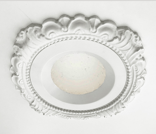 LED Dome Light Sky Style with Victorian recessed light trim