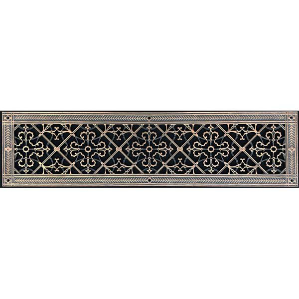 """Radiator Cover Grille Craftsman Style Arts and Crafts Covers Opening 6"""" x 30"""""""