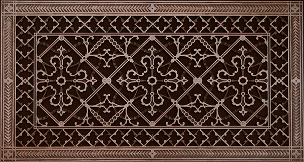 """12"""" x 24"""" Arts and Crafts Style decorative grille"""