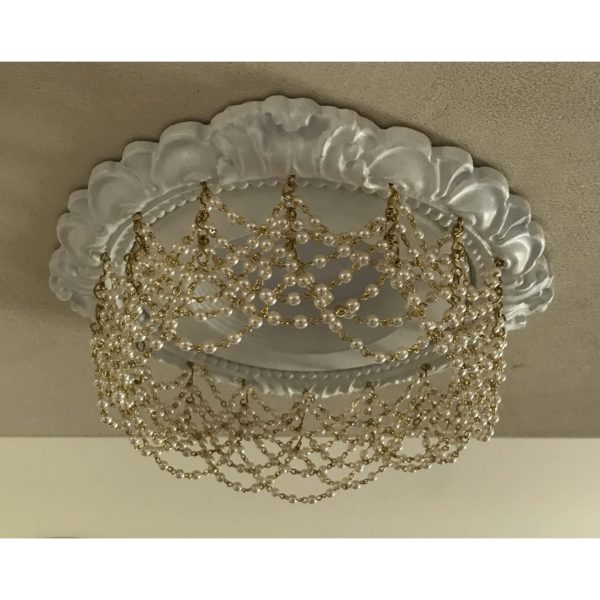 4″ Victorian Recessed Light Trim Chandelier #RC-141-Double-Pearl-Swags