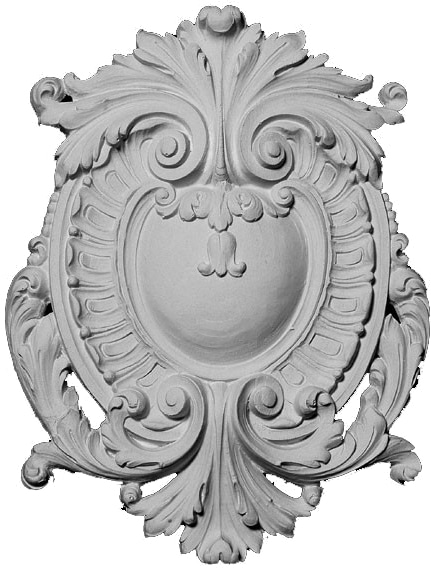 Resin Oval Crest