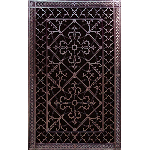 """Magnetic return air filter grille 24"""" x 14"""" Rubbed Bronze Craftsman Style"""