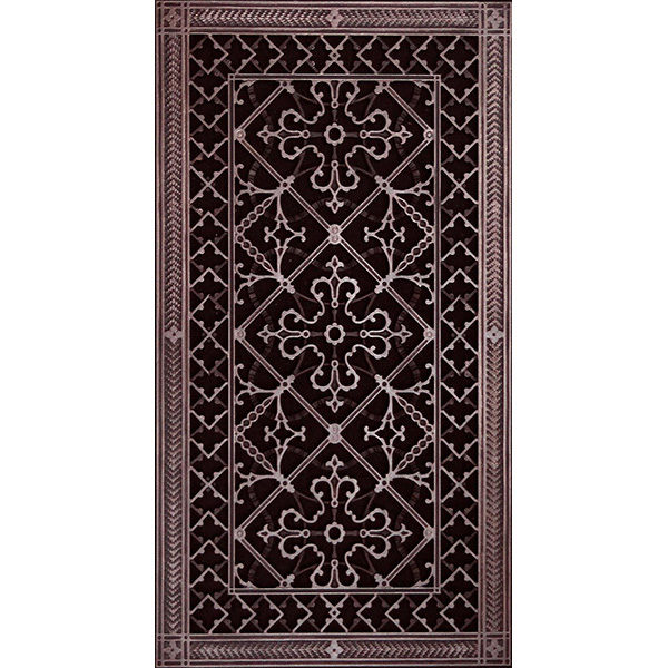 """Magnetic Return Air Filter Grille Craftsman Style Arts & Crafts Fits 30""""x14"""" Filter"""