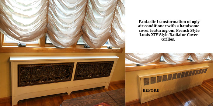 Radiator Cover with Louis XIV Style radiator cover grilles
